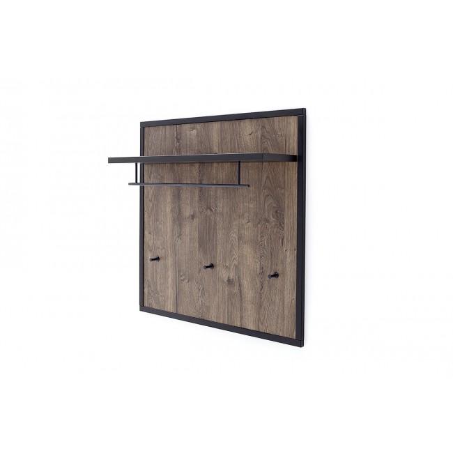 HALIK panel garderobiany dąb Barrique 96/25/96 cm