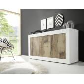 AMBROZJA dąb Pero/beton  komoda włoska 3 drzwi 160/43/86 cm