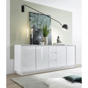 ICEBERG komoda wysoka lakier biały lub laminat marmur 210/43/79 cm