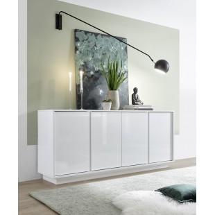 ICEBERG komoda 4-drzwi lakier biały 180/43/79 cm