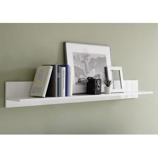 ICEBERG półka lakier biały lub laminat marmur 138/19/17 cm