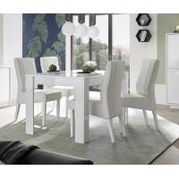ICEBERG stół z wkładem lakier biały 137-185/90/79 cm