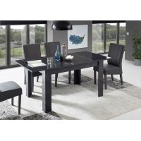 MAGNUM  stół z wkładem optyka czarnego marmuru 137-185/90/79 cm