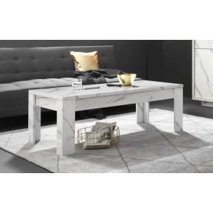 ICEBERG stolik kawowy laminat marmur biały 122/65/45 cm
