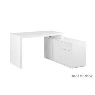 IVAN biurko z szafką lakierowane białe  120/76/60 cm