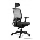 ANG fotel biurowy nowoczesny czarny