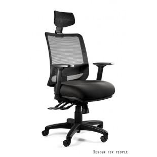 SOWA fotel biurowy nowoczesny czarny