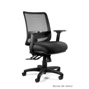 SOWA M fotel biurowy nowoczesny czarny