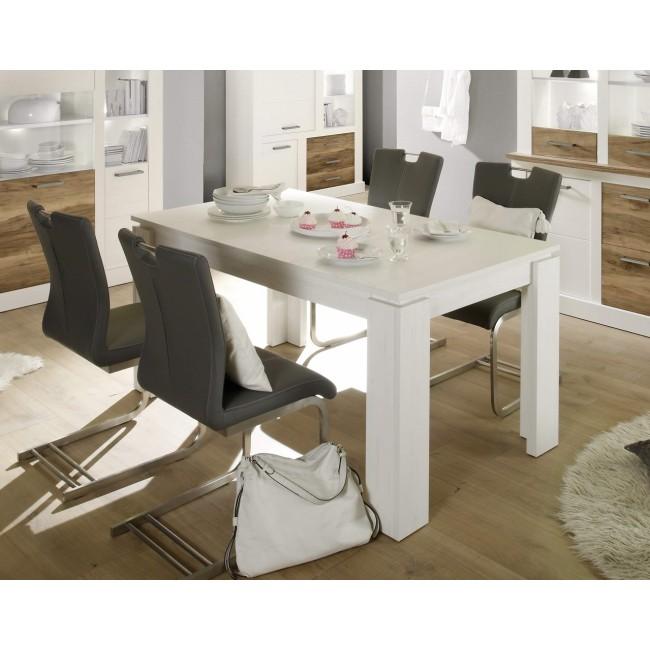 TORR stół rozkładany sosna biała 160-220/90/77 cm