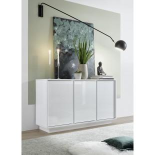 ICEBERG komoda 3-drzwi lakier biały 138/43/79 cm
