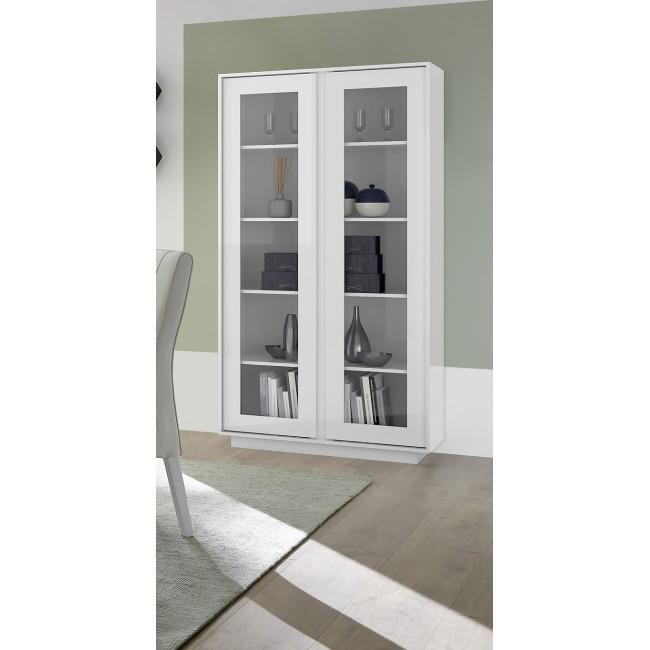 ICEBERG szafka RTV lakier biały lub laminat marmur 139/43/44 cm
