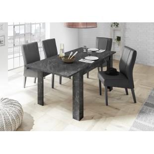 ICEBERG stół z wkładem laminat marmur antracyt 137-185/90/79 cm