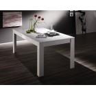 ICEBERG stół z wkładem lakier biały wysoki połysk 137-185/90/79 cm