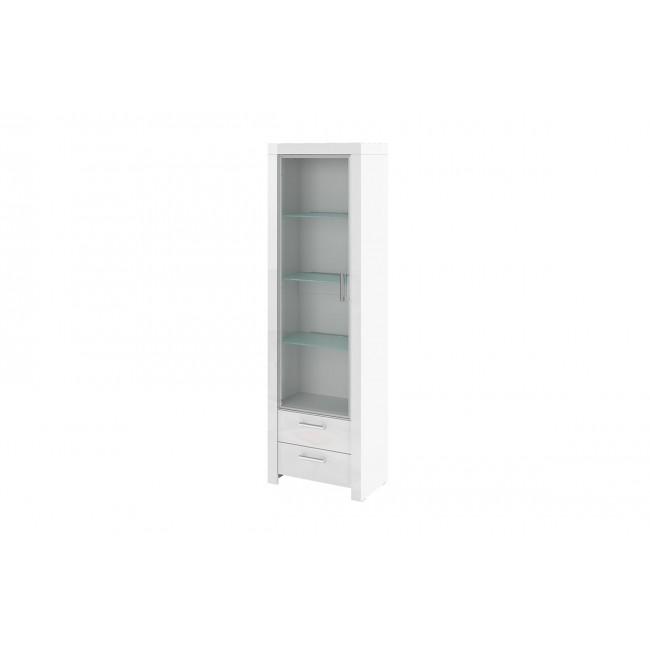 REJS biała witryna z połyskiem 59/190/35 cm