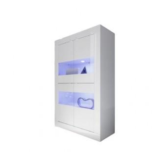 AMBROZJA biała witryna włoska szeroka 102/43/162 cm
