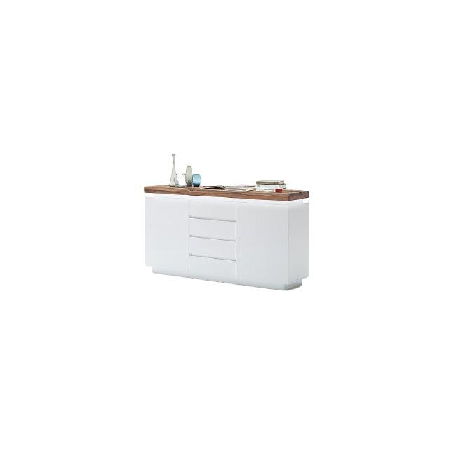 Komoda biała dąb lity FELICJA 93 150/81 cm