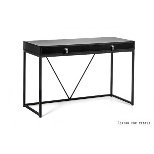 NORDI biurko czarne 120/50/76 cm