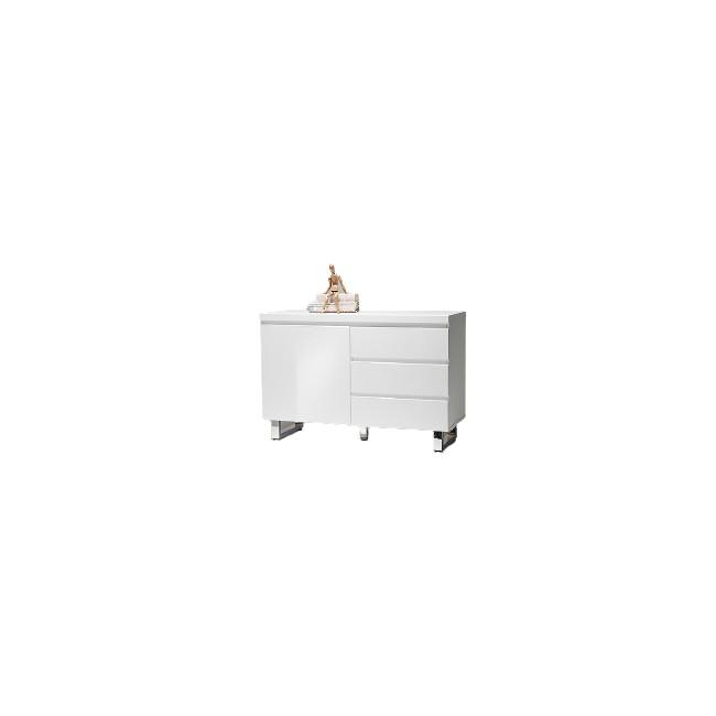 Biała komoda lakierowana BOS 3  111/42/74cm