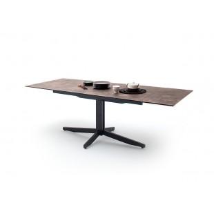 RIMMO stół rozkładany blat optyka brązowego kamienia 160-200-240/90/76 cm