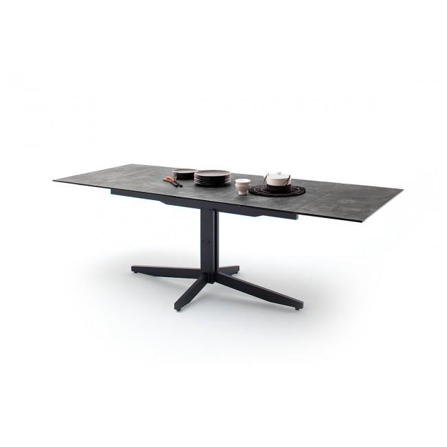 RIMMO stół rozkładany blat optyka szarego kamienia 160-200-240/90/76 cm