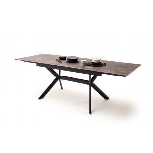 SIERRA stół rozkładany blat optyka brązowego kamienia 160-200-240/90/76 cm