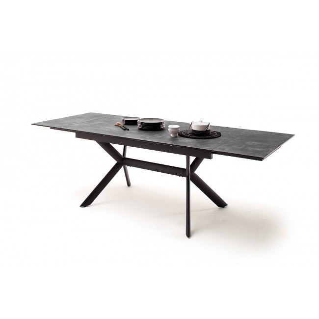 SIERRA stół rozkładany blat optyka szarego kamienia 160-200-240/90/76 cm
