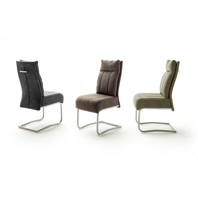AZULA krzesło na płozie, trzy kolory tkaniny antyk