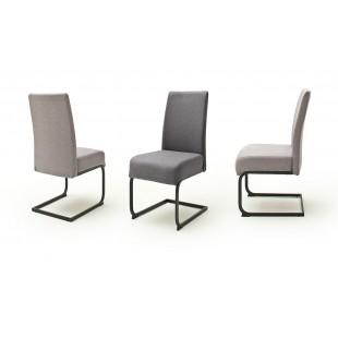 ESTELLA krzesło płoza lakier czarny mat, dwa kolory tkaniny