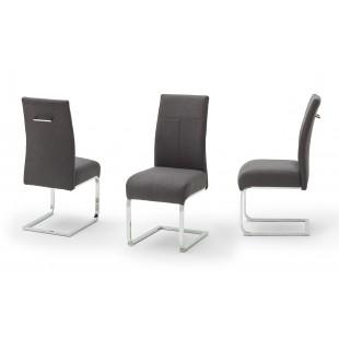 FASON krzesło na chromowanej płozie, tkanina antracyt