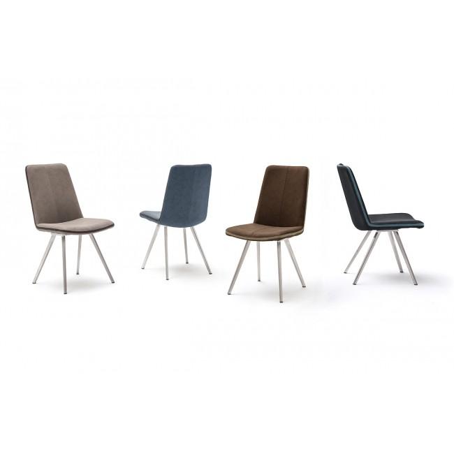 GILDA krzesło nogi stal szlachetna, cztery kolory ekoskóry