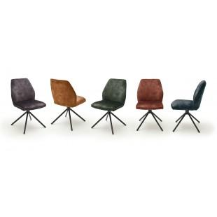 OKTAWA krzesło nogi lakier czarny mat, cztery kolory tkaniny welur
