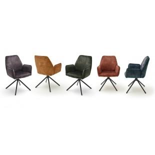 OKTAWA krzesło z podłokietnikiem, cztery kolory tkaniny welur