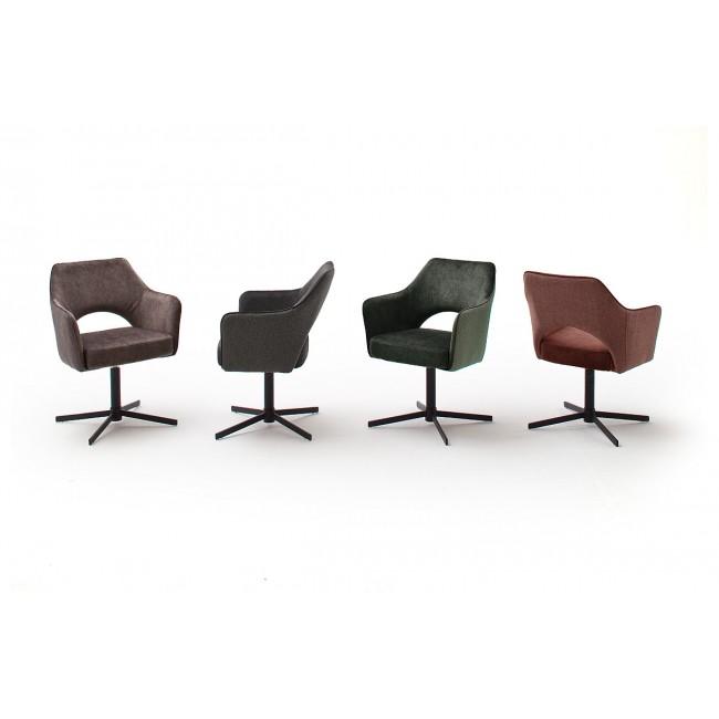 VALET krzesło z obrotową podstawą, cztery kolory tkaniny w optyce weluru