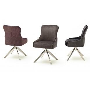 SZEF A krzesło obrotowe stelaż stal stal szlachetna, tkanina w optyce weluru