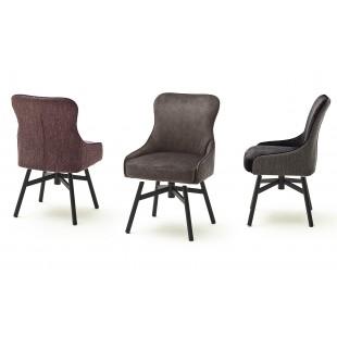 SZEF A krzesło obrotowe stelaż czarny mat, tkanina w optyce weluru
