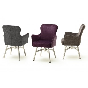SZEF B krzesło obrotowe stelaż stal stal szlachetna, tkanina w optyce weluru