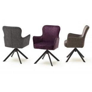 SZEF B krzesło obrotowe stelaż czarny mat, tkanina w optyce weluru
