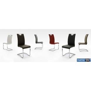 Krzesło chrom ekoskóra AURORA BIS - Różne Kolory