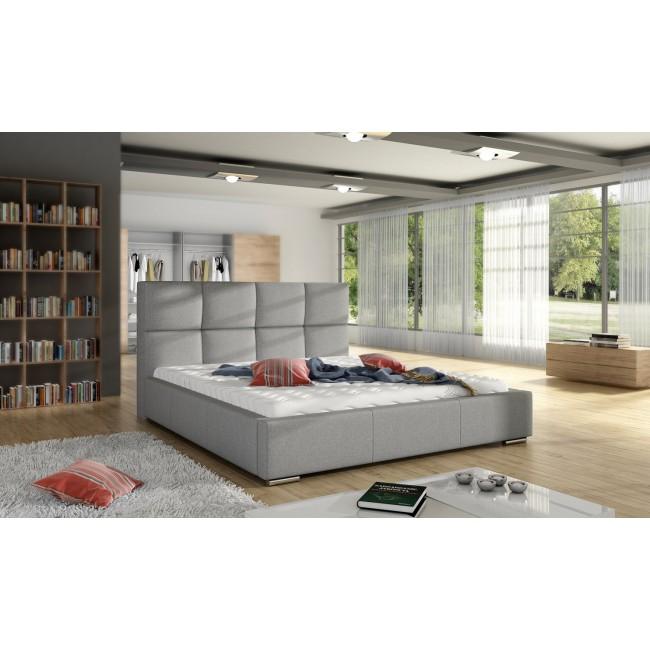 Białe łóżko SELA -polibox
