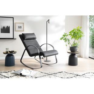 MUSKAT czarny  fotel bujany 67/115/90 cm