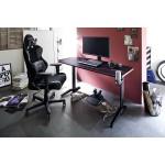 REJS 2 biurko gamingowe w optyce karbonu blat 140/65 cm