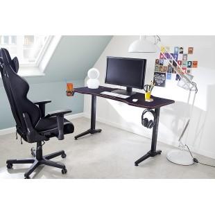 REJS 3 biurko gamingowe w optyce karbonu blat 140/65 cm