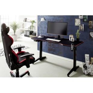 REJS 4 biurko gamingowe regulowane w optyce karbonu blat 140/65 cm