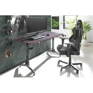 REJS 6 biurko gamingowe regulowane w optyce karbonu blat 160/60 cm