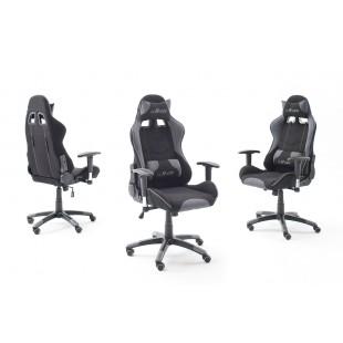 Fotel dla gracza WRC2 Racer czarno-szary