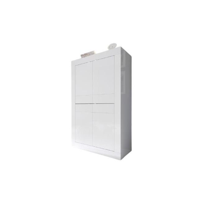 AMBROZJA biała włoska komoda wysoka 102/43/162 cm