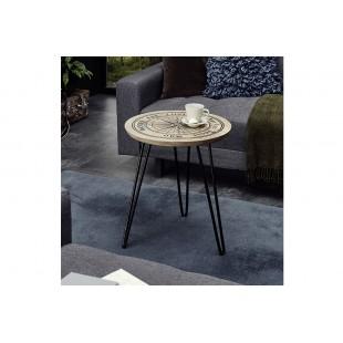 NEWA stolik drewno mango średnica 46 cm