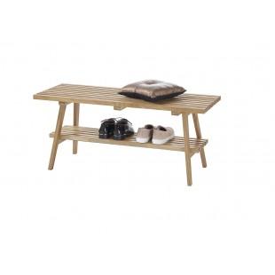 ARLA ławka drewno dębowe olejowane 100/35/45 cm