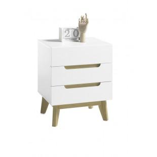 TARIO szafka nocna lakier mat /nogi dąb 48/40/60 cm