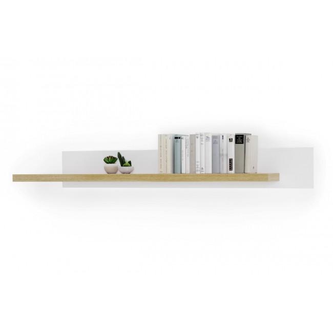 KALI półka ścienna biały /dąb wotan 175/26/22 cm